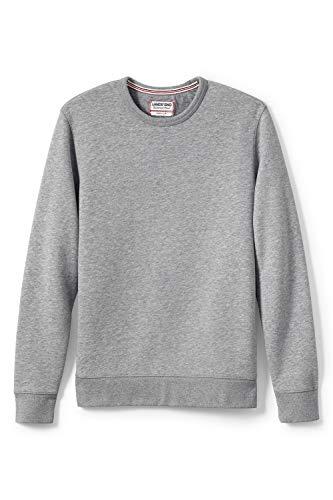 Lands\' End Herren Sweatshirt mit rundem Ausschnitt 44-46 Grau - Grau-Meliert