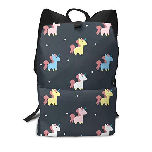 Homebe Zaino Scuola, Cartella per Laptop,Borsa Viaggio For Boys And Girls, Unicornios Printed Primary Junior High School Bag Bookbag