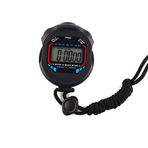 WyaengHai Stop Horloge Timer 2 stks Elektronische Timer Waterdichte Stopwatch Voor Hardlopen Zwemmen Scheidsrechter 7.5 X 6.0 X 1.8cm Alarm Counter Timer