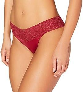 Esprit Daily Lace Fashion DP Hipster Brief Ropa Interior, 610/Rojo Oscuro, 42 para Mujer