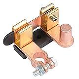 Hseamall, interruttore a coltello per batteria da auto, in ottone, interruttore di disconnessione per polo negativo della batteria 12 V/24 V