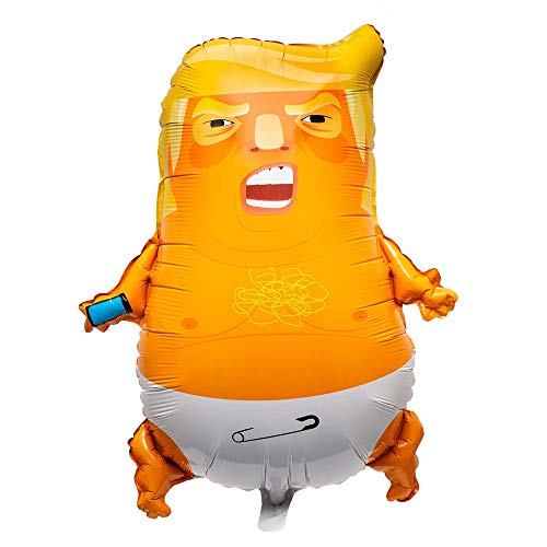 CASRO 10 Pack Bonus - Angry Baby Trump Foil Balloons | 24 inches | Perfect for Parties | Gag Gifts | 100% Satisfaction Guarantee