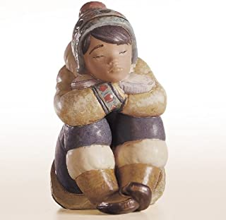 Lladro Pensive Eskimo Boy Porcelain Figurine