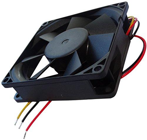 AERZETIX: Ventilador para Caja de Ordenador PC 24V 80x80x20mm 61,16m3/h 38dBA 3300rpm 1.54W 0.064A Vapo 3 Cables 24AWG C14551