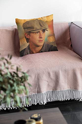 VinMea Ryan Gosling Cushion, Christmas Decorative Pillow Cover For Bedroom Sofa Cars For Ryan Gosling Fans, The Notebook Film Merch Pillow