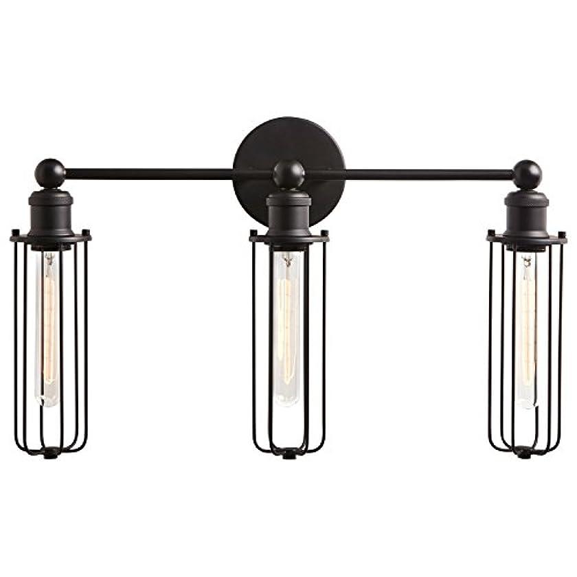 Rivet Industrial Wall Sconce 3-Light Vanity Fixture, 13.5