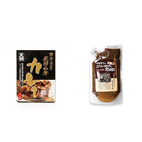 [2点セット] 造り酒屋の飛騨和牛カレー【中辛】 (1食分)・妻籠宿 やまぎり食堂 ごへい餅のたれ(250g)