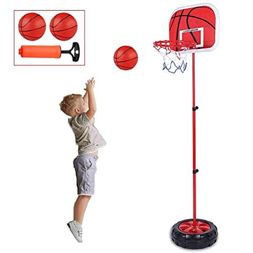 SHINAN Plástico fácil montaje interior patio baloncesto aro soporte bola de goma y bomba