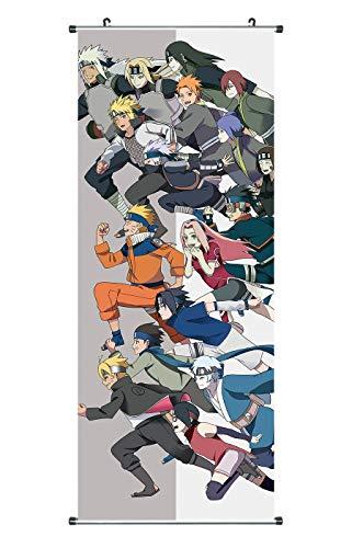 CoolChange Großes Naruto Rollbild/Kakemono aus Stoff, 100x40cm, Motiv: Das große Rennen