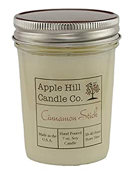 Apple Hill Candle Co Natural Soy Candle - Cinnamon Stick  7 oz  | 30-40 Hour Burn Time