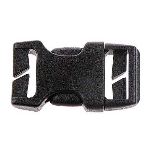 Schwarz Klickverschluss / Klippverschluss - Größe Auswählbar, Hochwertig Kunststoff Steckschnallen - 20mm