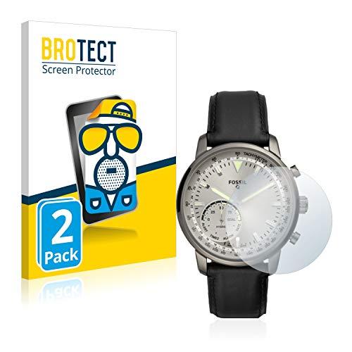 BROTECT 2X Entspiegelungs-Schutzfolie kompatibel mit Fossil Q Goodwin Bildschirmschutz-Folie Matt, Anti-Reflex, Anti-Fingerprint