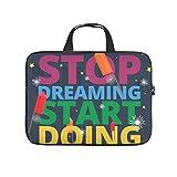 XINGYUE Stop Dreaming Start Doing Lettering Tablet Sleeve Moda Impreso Tablet Case Resistente al Agua Neopreno Portátil Cubierta para Empresarios Oficina Personal