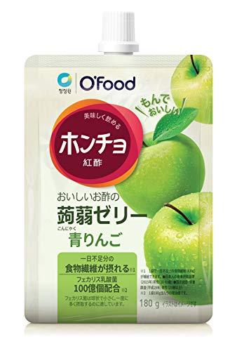 ホンチョ蒟蒻ゼリー 青りんご(10袋) 飲むお酢 ホンチョ こんにゃくゼリー 蒟蒻ゼリー