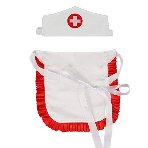 Partybob Krankenschwester Kostüm Set – Haube und Schürze