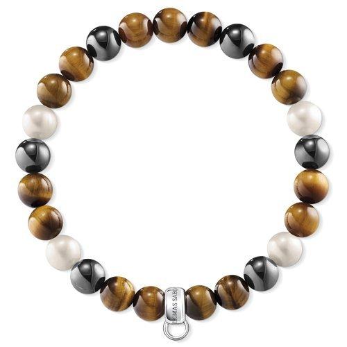 Thomas Sabo Damen-Armreifen Künstliche Perle X0218-948-2-L16,5