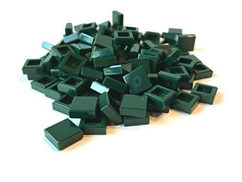 LEGO ® 100 Fliesen 1x1 in dunkel grün / Dark Green