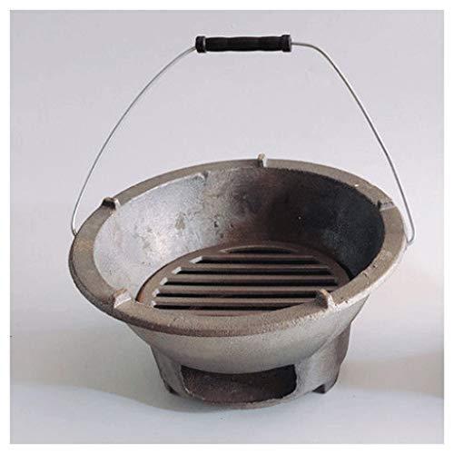 Fuego de Fuego al Aire Libre Quema de Madera de 10 Pulgadas con Cubierta de Malla Pantalla de Chispa de póquer para calefacción Exterior Patio Patio Camping Picnic (tamaño : Large)