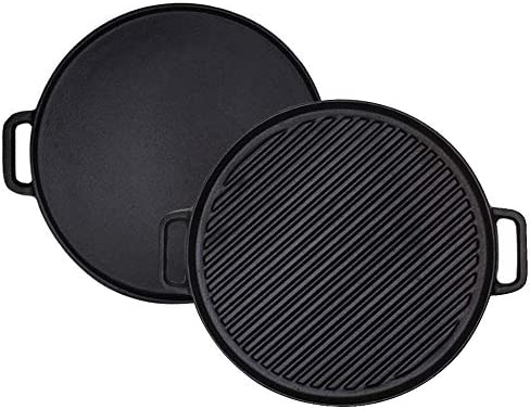 Cast Iron Reversible Grill Griddle 12 Inch Double Handled Cast Iron Stovetop Grill Griddle product image