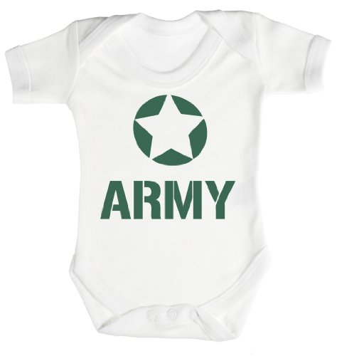 Baby Buddha - Army Body bébé/Barboteuses bébé 3-6 Mois Blanc