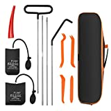 isYoung Professional Car Tool Kit, Automotive Essential Tool Car Emergency 11-Piece Kit with Long Reach Grabber, Air Pump Bag, Non-Marring Wedge
