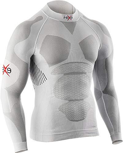 I-EXE Long Sleeve High Performance Chemise Homme, Blanc, m
