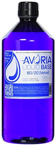 Avoria Deutsche Liquid Basen 0mg/ml Velvet (80/20), 1er Pack (1 x 1 l)