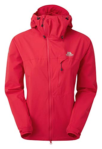 Mountain Equipment W Squall Hooded Jacket Rot, Damen Jacke, Größe M - 12 - Farbe Capsicum Red