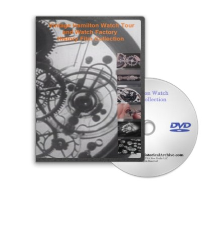 Hamilton Watch Tour and Watch Factory History Film Collection DVD - See Vintage Wrist Watches and Pocket Winder Watches Being Made
