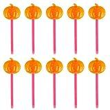 TENDYCOCO 10Pcs 8. 25 Pollici Grandi Bastoncini Luminosi Testa di Zucca Bacchette Luminose Bacchette per Bambini Natale Forniture per Feste di Halloween (Colore Casuale)