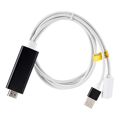 Cable HDMI para duplicar teléfono a TV HDTV Adaptador para iPhone X/XS Max/7/8 Plus/iPad
