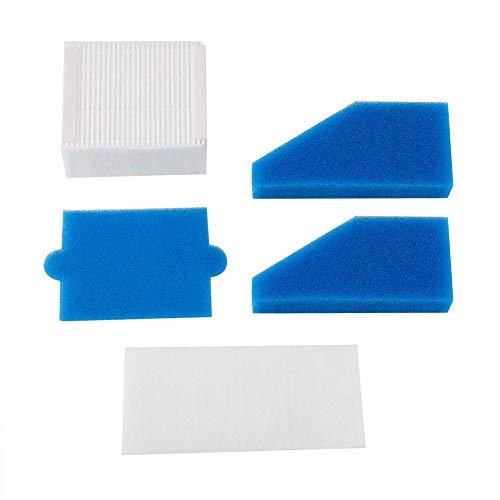 5 piezas de filtro de espuma para aspiradora de polvo de filtro de filtro de aspiradora, piezas de repuesto para Thomas 787241