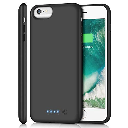 "Battery Case for iPhone 6s Plus/6 Plus/7 Plus/8 Plus 8500mAh, Rechargeable Charging Case for iPhone 6Plus Extended Battery Pack Charger Apple 6s Plus Portable Power Bank Cover for 7Plus 8Plus (5.5"")"