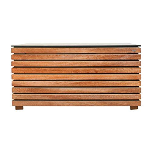 Forte Kissentruhe M, natur anthrazit Kambala-Holz (Teak ähnlich) 128x62x58cm
