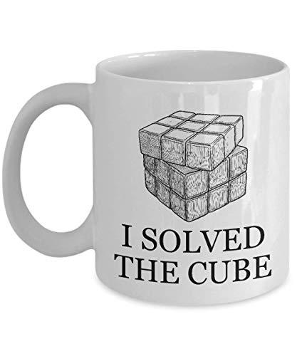 N\A Taza Divertida de Rubik CubeCoffee Resolví el Cubo. Regalo de Sarcasmo Inspirador único para el Jugador de Rubik Hombres Mujeres