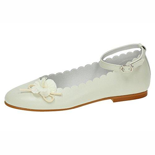 MADE IN SPAIN 2113 Manoletinas Beige NIÑA Zapato COMUNIÓN