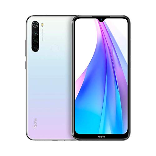 Xiaomi Redmi Note 8T Smartphone (16cm (6.3 Zoll)) FullHD+ Bildschirm, 32GB interner Speicher + 3GB RAM, 48MP Vierfach-KI-Rückkamera, 13MP Selfie Frontkamera, Dual SIM, Android 9, Weiß [Deutsche Version]