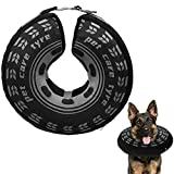 SCENEREAL Dog Inflatable Recovery Collar - Soft Dog Cone Collar After Surgery, Comfortable Protective E-Collar for Medium Large Dogs Prevent from Licking Wound