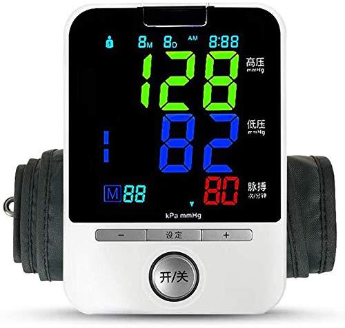 Xyfw Blutdruckmonitor Elektrisches Blutdruckmessgerät Manschette Digitaler Bildschirm Genau Messwertspeicher Arrhythmie-Warnung Zuhause