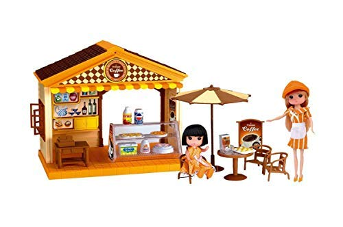 Party Hub Stylish Coffee House Pretend Play Toys with Music & Lights and Table Chair Set for Shop Toys for Boys & Girls