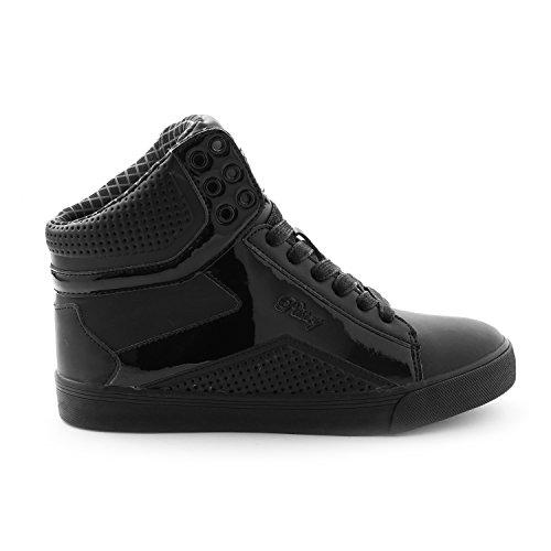 Pastry Pop Tart Grid Adult Dance Sneakers, Black/Black, Size 11