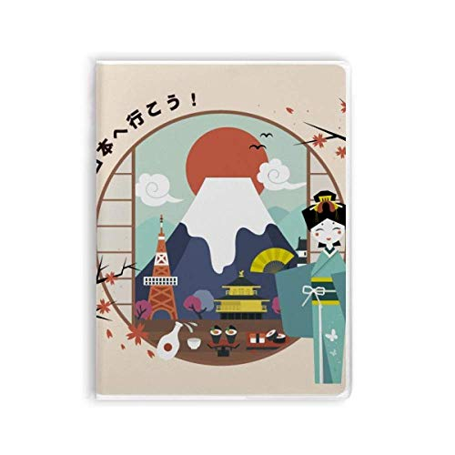 Libreta de viaje japonés con tapa blanda