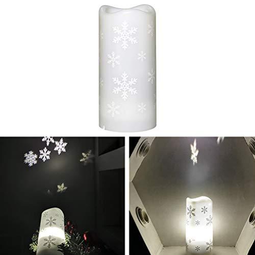 SHARRA Vela de proyector LED, 2 en 1 sin Llama Luz de Vela LED Parpadeante Luces de té LED Lámpara de proyector...