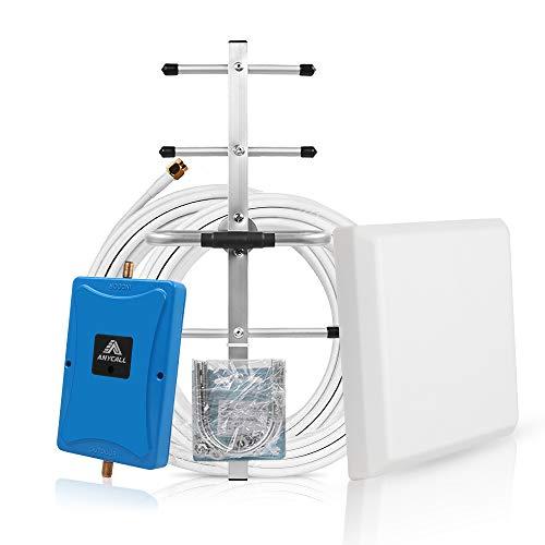 ANYCALL Amplificador de Cobertura Movil 4G Repetidor de Señal 3G gsm 900MHz(Band 8) Mejorar la Llamar Soporte Movistar/Orange/Vodafone para Casa/Oficina