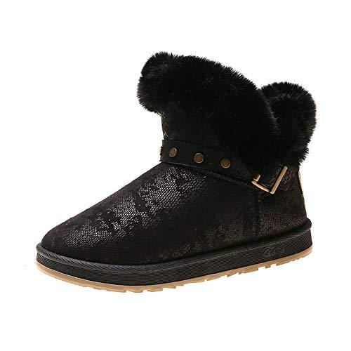 Winter Nieuwe Vrouwen Sneeuw Laarzen Plus Pluche Houd Warm Enkel Bont Emu Laarzen Comfortabele Niet-slip Winter Laarzen