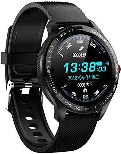 Reloj inteligente IP68 impermeable moda deportes negocios reloj inteligente con funciones de monitoreo de frecuencia cardíaca para hombre y mujeres-E5