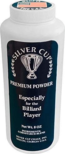 Silver Cup Unisex's Billiard/Pool Premium Powder Hand Chalk, 8 Ounce Shaker Bottle, White, 8 Oz