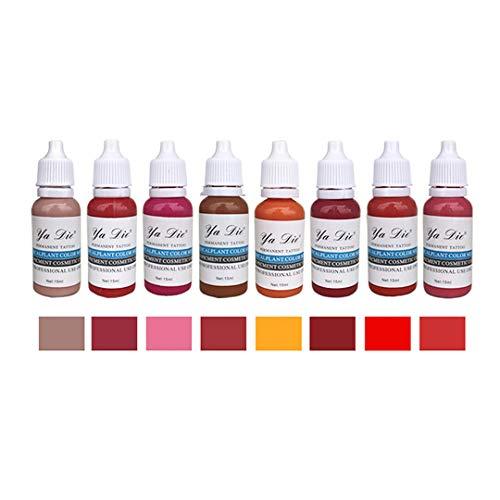 8 Farben Tattoo Tinte Set Professionell Make-up Farbe Pigment für Professionell Lippenstift Tinte...