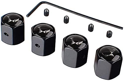 XCZZYC Tapa Antipolvo de válvula de neumáticos de Rueda de Coche para Citroen DS Logo C2 C3 C4 C5 C6 C4L DS3, Accesorios de decoración Exterior de aleación de Cromo metálico