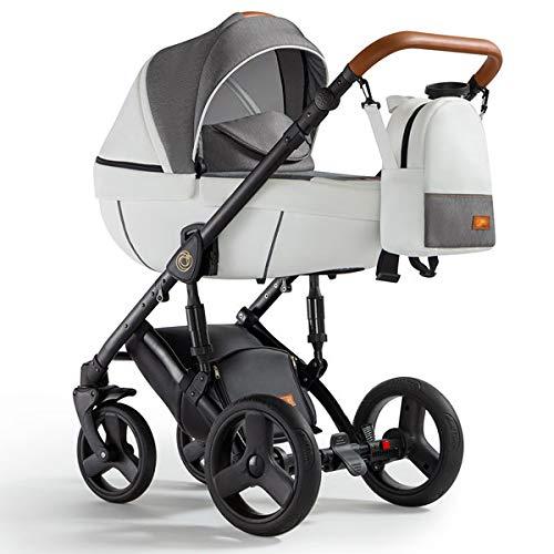Krausman Kinderwagen 3 in 1 Nexxo White Kombikinderwagen Babyschale Babywanne Sportwagen Design Made In Germany